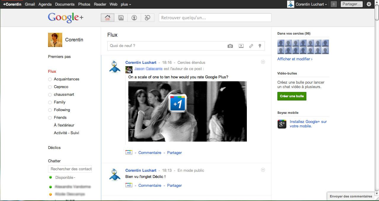 capture Google+