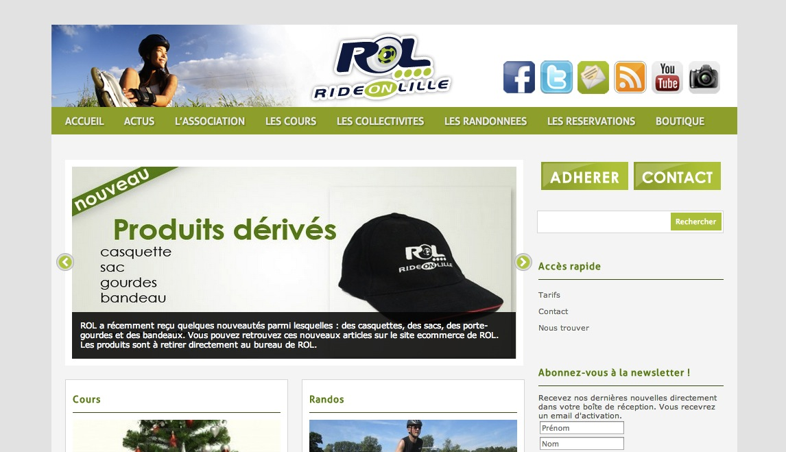 Ride On Lille site wordpress corentinlu.fr