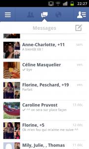 Facebook messagerie