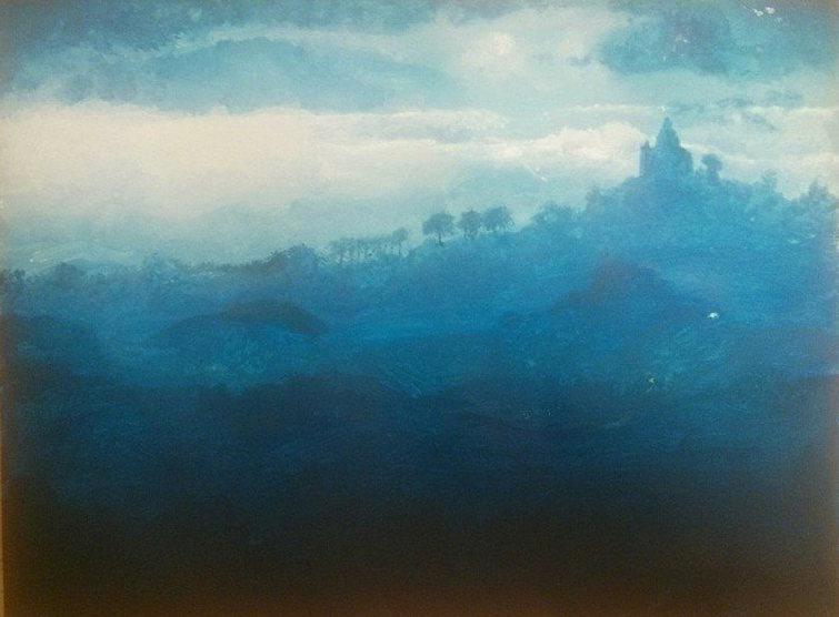 Bologne Italie peinture acrylique perspective atmosphérique