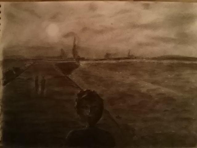dessin Dublin crayon graphite